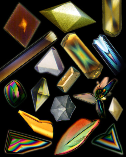 Healing crystals and electron motion